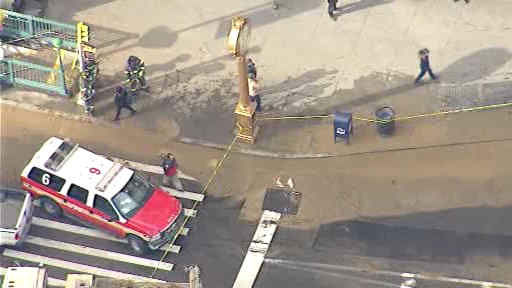 "<div class=""meta image-caption""><div class=""origin-logo origin-image ""><span></span></div><span class=""caption-text"">A water main break on 23rd street has caused flooding and subway delays on the N, R, Q lines.</span></div>"