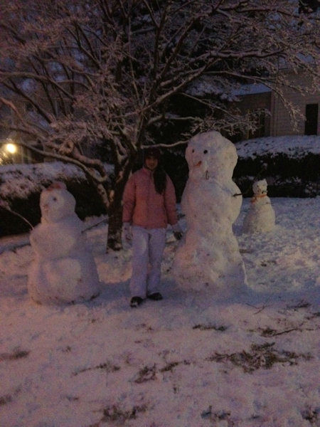Snowmen submitted by Eyewitness News viewers during the Blizzard of 2013.