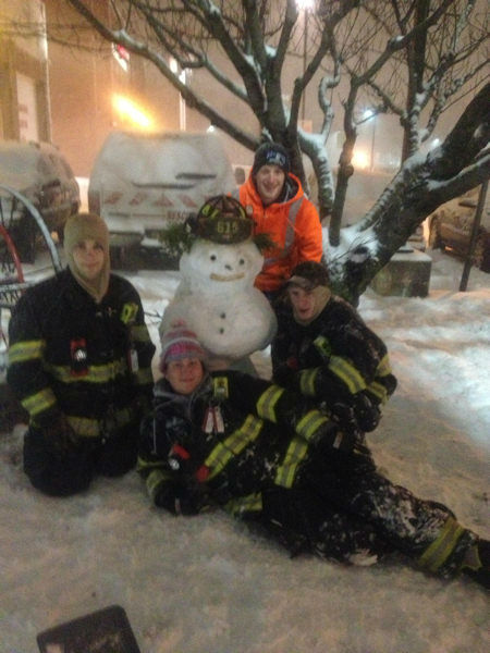 Snowmen submitted by Eyewitness News viewers