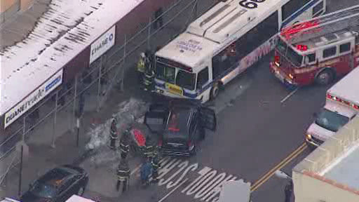 "<div class=""meta ""><span class=""caption-text "">A New York City bus and 2 vehicles collided in Harlem Wednesday morning, injuring at least 11 people. </span></div>"