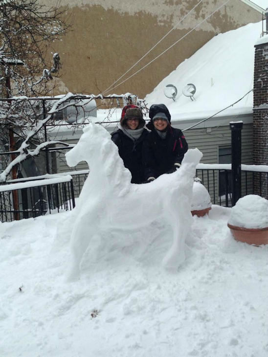 "<div class=""meta ""><span class=""caption-text "">Tizzy and Bea's Snow Horse in Elizabeth, NJ from nor'easter on February 13, 2014</span></div>"