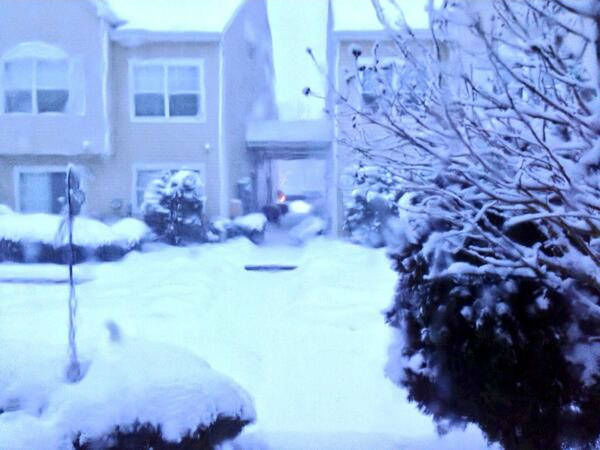 Howell, NJ from the nor'easter on February 13, 2014.