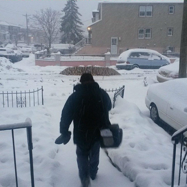 Mailman in Bayonne, NJ  from the February 13 nor'easter