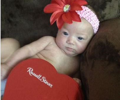 Gianna's first Valentines Day!