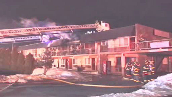 "<div class=""meta ""><span class=""caption-text "">A fire broke out Friday night at a Hauppauge motel that was housing a group of people displaced by Superstorm Sandy.</span></div>"