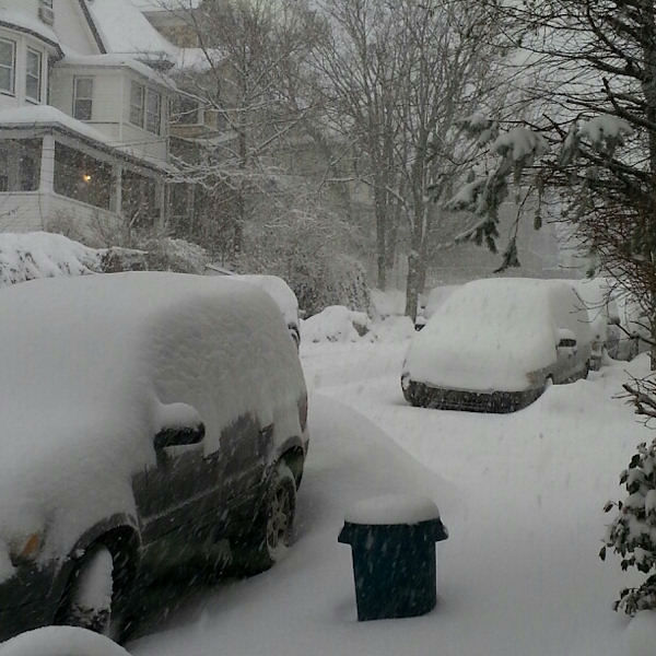 Photo submitted after the snow on Staten Island on Saturday, February 15