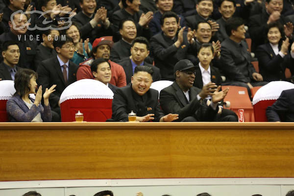 Kim Jong-un with Dennis Rodman Photo Credit: VICE