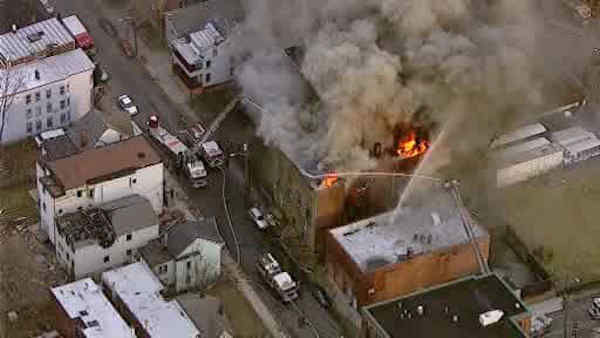 A building in Paterson caught on fire late Thursday afternoon.