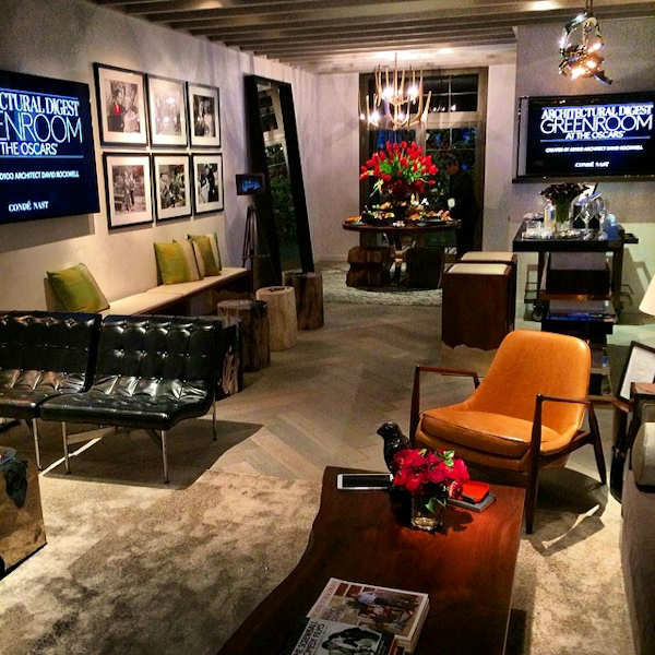This is the Architectural Digest green room: where stars will wait backstage at the Oscars. <span class=meta>(Sandy Kenyon)</span>