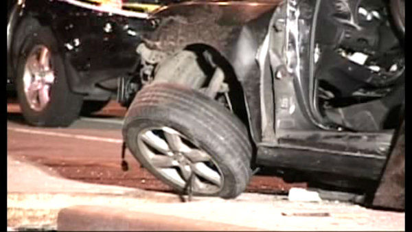 A couple expecting their first child were killed in a car crash early Sunday in Williamsburg Brooklyn, but their child survived.