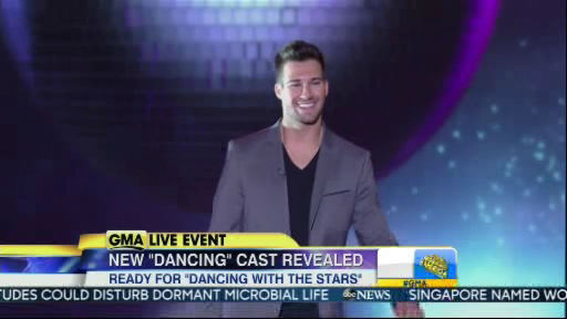 James Maslow is a member of the new Dancing With The Stars cast revealed on GMA.  Season 18 begins on Monday, March 17, 2014.
