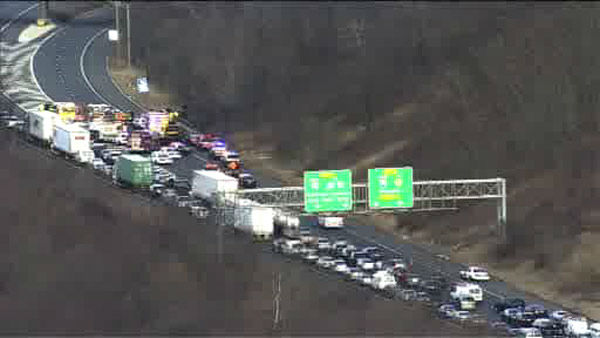 "<div class=""meta ""><span class=""caption-text "">Two cars were involved in a head on collision on I-78 in Springfield, New Jersey, causing afternoon delays.</span></div>"