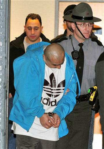 "<div class=""meta ""><span class=""caption-text "">Pennsylvania State Police, along with New York City police officers, transport Julio Acevedo, 44, from the State Police Barracks in Bethlehem, Pa, Wednesday night, March 6, 2013, to the Lehigh County Prison. Acevedo was wanted by the New York City Police in connection with leaving the scene of an accident resulting in the death of expectant parents Nachman and Raizy Glauber. Their premature child also died as a result of the accident. (AP Photo/Tim Wynkoop) (AP Photo/ Timothy E. Wynkoop)</span></div>"