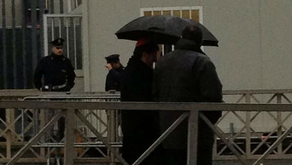 """Cardinals arrive for prayer service in pouring rain at #St Peter's. #Conclave"" -@KimDillon"
