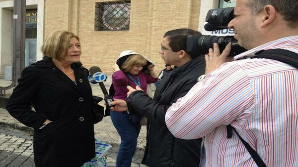 """Joe Torres interviews Superstorm Sandy survivor from Brick NJ in Vatican City #Conclave"" -@KimDillon"