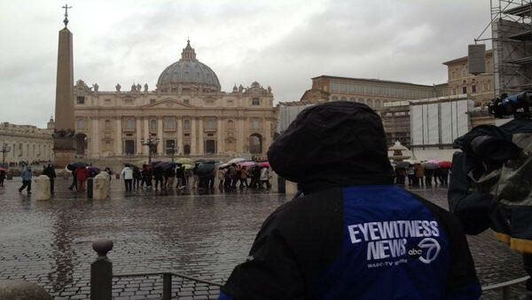 """Ace photographer Angelo Martin soaks up the magnificent sight of St. Peter's Basilica. #Conclave"" -JoeTorresABC7"
