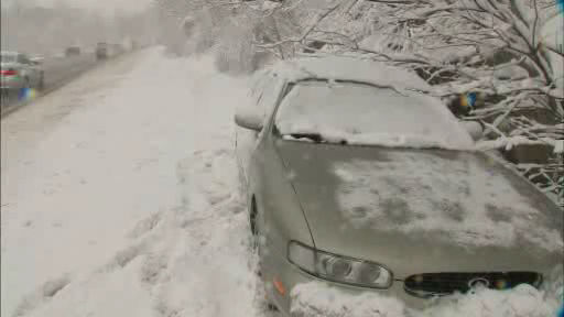 Snow created hazardous driving conditions on I-684 in Westchester County.