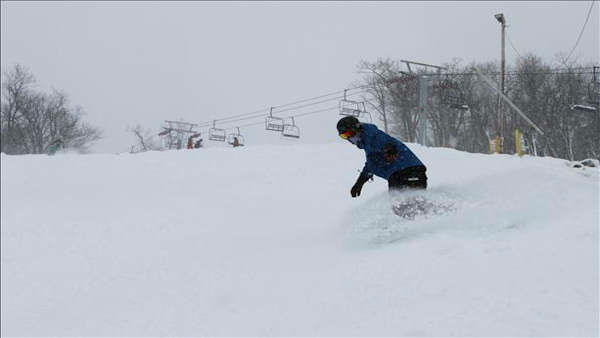 Snowboarding at Mountain Creek. Vernon, NJ