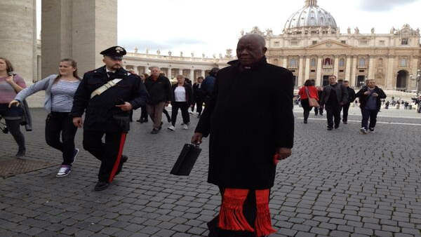 "<div class=""meta ""><span class=""caption-text "">Cardinals leave today's final general congregation to prepare for tomorrow's #conclave. -@JoeTorresABC7</span></div>"