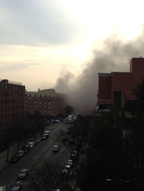 Photos from Eyewitness News viewers and reports of the explosion in East Harlem on Wednesday, March 12, 2014