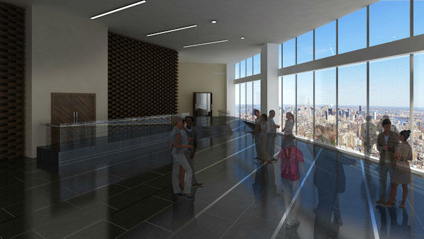 The developers of One World Trade Center have provided a glimpse of what the observation deck will look like when it's completed in 2015.