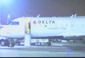 JFK airport officials say a Comair flight from Boston landed around 8 p.m. and was heading toward the gate when the Air France Airbus A380, the world's biggest commercial jet, hit its tail while taxiing for takeoff. The smaller regional flight was tossed around like a toy. No injuries were reported.