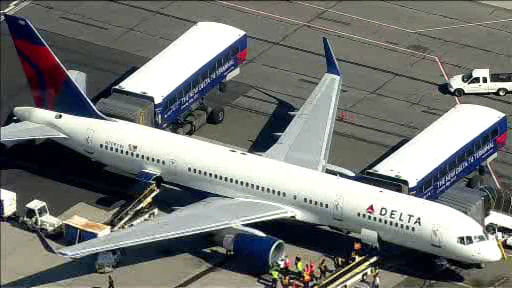 "<div class=""meta image-caption""><div class=""origin-logo origin-image ""><span></span></div><span class=""caption-text"">A Delta flight bound for Los Angeles made an emergency landing at JFK Airport after sustaining an apparent bird strike shortly after takeoff.</span></div>"