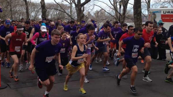 "<div class=""meta ""><span class=""caption-text "">Nearly 3,000 people ran and walked a 5K course to raise funds and awareness about pancreatic cancer, the fourth leading cause of cancer death in the United States, at PurpleStride New York City 2013 on April 20, 2013. </span></div>"