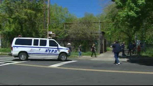 Police on the scene of Sunday's van accident in the Bronx that killed 7 people.