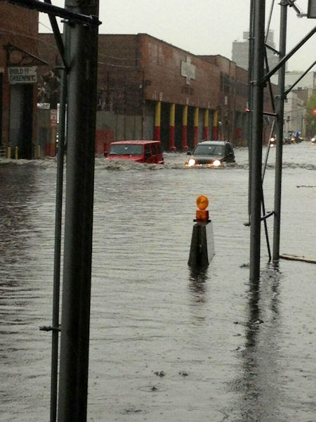 "<div class=""meta ""><span class=""caption-text "">Flooding in Gowanus, Brooklyn on Wednesday, May 8, 2013. (Photographer Ian Stiles via Twitter)</span></div>"