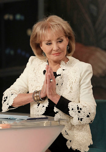 "<div class=""meta ""><span class=""caption-text "">Barbara Walters announcing her retirement plans on The View on Monday, May 13, 2013. (Credit: ABC/Lou Rocco)</span></div>"