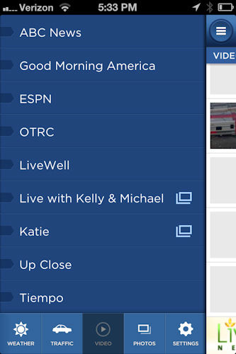 You will also find access to latest news from ABC News and sports from ESPN, and you can connect with your favorite Channel 7 shows like Live with Kelly and Michael.