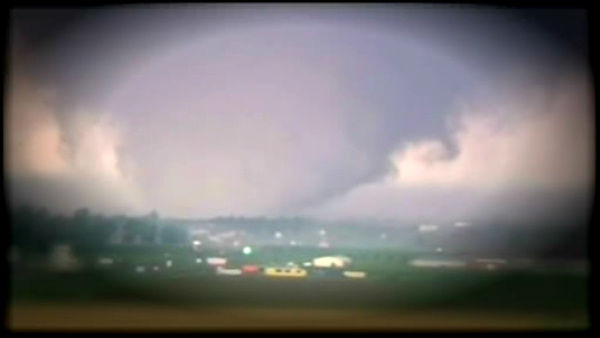 A tornado on the ground near Oklahoma City on Monday, May 20, 2013.