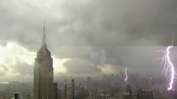Photo from our camera looking at the Empire State Building taken just after 4:00 p.m.