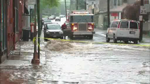 Photos of street flooding in Nyack, Rockland County on Thursday, May 23, 2013.