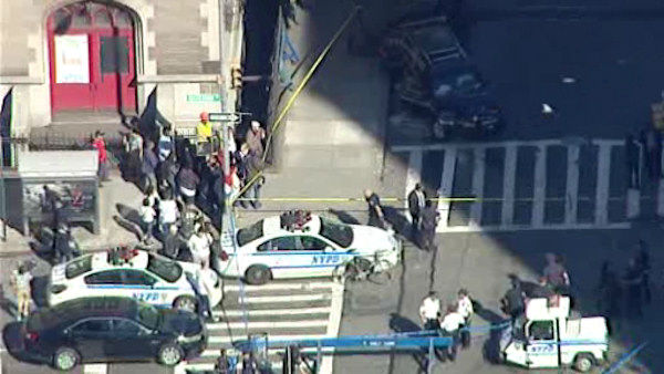 "<div class=""meta image-caption""><div class=""origin-logo origin-image ""><span></span></div><span class=""caption-text"">Photos from the scene where a child was killed, her grandmother injured when a car struck them at 97th and Amsterdam Avenue on the Upper West Side on Tuesday morning.</span></div>"