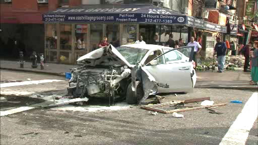 east village car accident