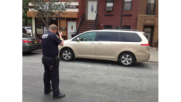 Nearly a dozen cars were vandalized by a suspect armed with a BB gun overnight in Williamsburg, Brooklyn.