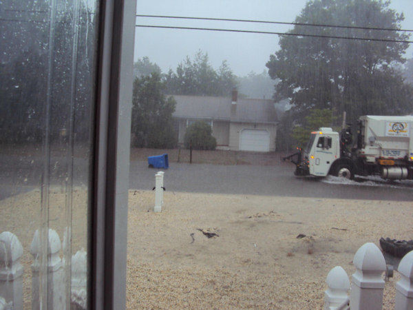 Hail and flooding in Manahawkin, New Jersey on June 22, 2012. (Photos by Mike Feeney)