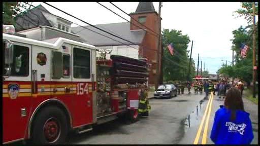Storms caused street flooding on Staten Island, and lightning struck a church steeple.