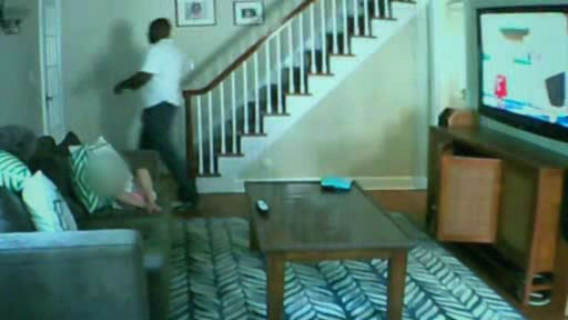 Photos from surveillance video of the suspect wanted in a violent home invasion and assault in Millburn, New Jersey.