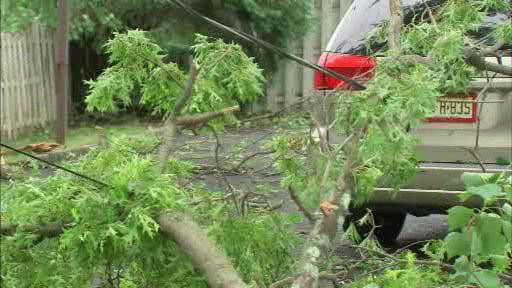 Storm damage from what may have been a tornado in Berkeley Heights, New Jersey.   The National Weather Service is investigating.