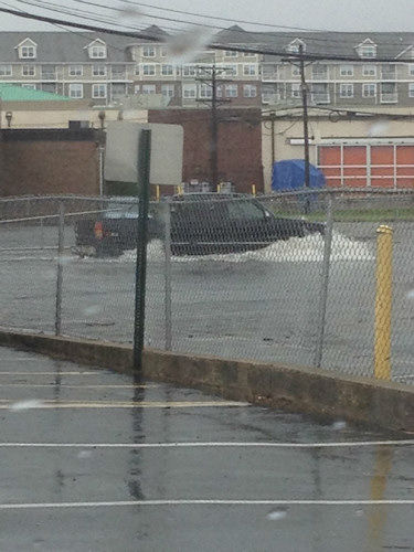 Flooding in Hackensack, New Jersey from an Eyewitness News viewer