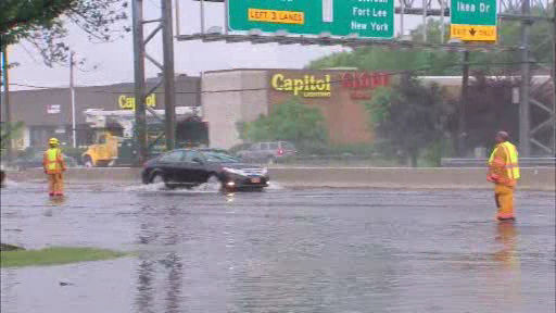 Flooding in Paramus, New Jersey