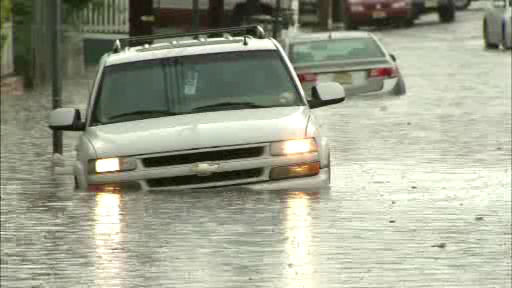 Flooding in Paterson, New Jersey