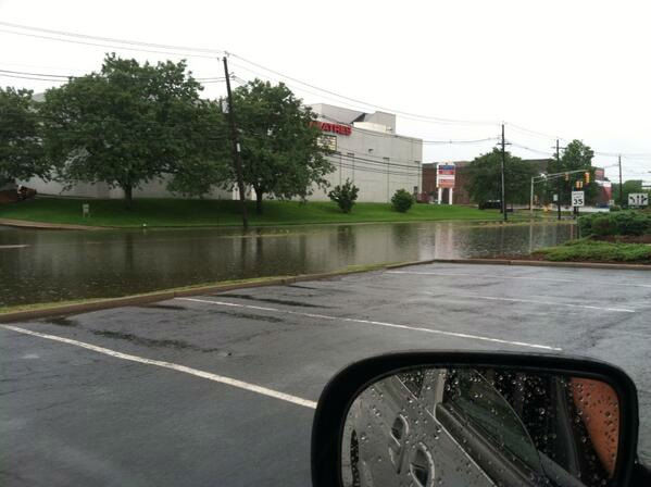 Flooding at Willowbrook Mall in New Jersey