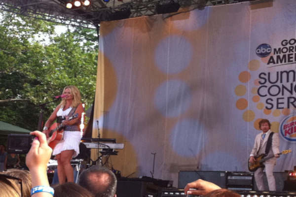 "<div class=""meta image-caption""><div class=""origin-logo origin-image ""><span></span></div><span class=""caption-text"">GOOD MORNING AMERICA - Country star Miranda Lambert performs as part of the GMA Summer Concert Series, on GOOD MORNING AMERICA, 7/8/11, airing on the ABC Television Network. (WABC/ CARMIN BIGGS)</span></div>"