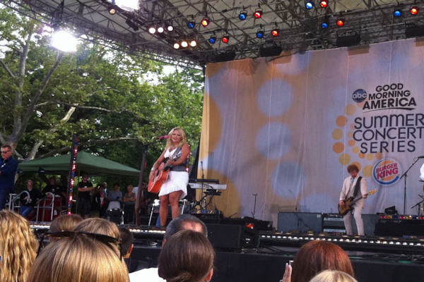 GOOD MORNING AMERICA - Country star Miranda Lambert performs as part of the GMA Summer Concert Series, on GOOD MORNING AMERICA, 7/8/11, airing on the ABC Television Network. (WABC/ CARMIN BIGGS)