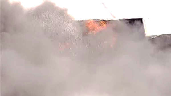 A large fire destroyed some apartments at the Woodbridge Village Apartments in Woodbridge, New Jersey.