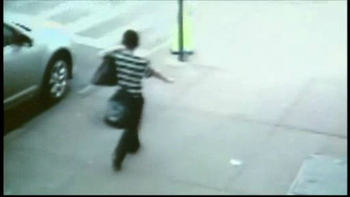 Another surveillance video shows Leiby Kletzky walking alone on the sidewalk.  <span class=meta>(WABC Photo)</span>